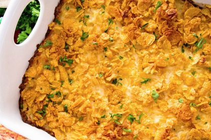 photo of prepared Cheesy Hash Brown Chicken Casserole recipe