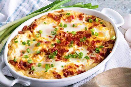 photo of prepared Cheesy Mashed Potato Egg Casserole recipe