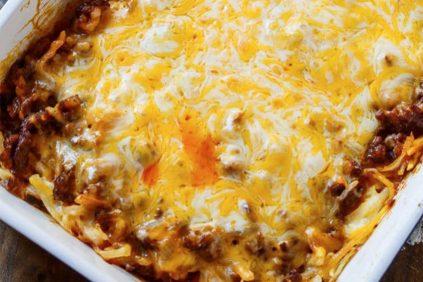 photo of prepared Chorizo Hash Brown Casserole recipe