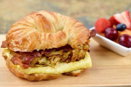 photo of prepared Loaded Breakfast Croissants recipe