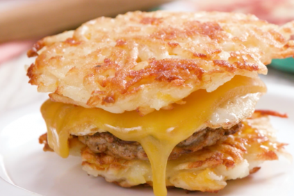 photo of prepared Sausage and Egg Sandwich with Hash Brown Bun recipe