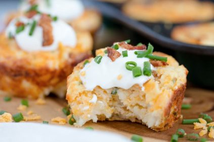 photo of prepared Loaded Mashed Potato Puffs recipe