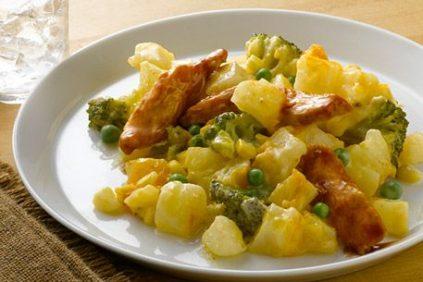 photo of prepared BBQ Chicken and Cheesy Potato Casserole recipe