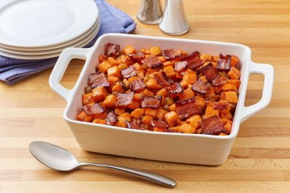 photo of prepared Candied Bacon Roasted Sweet Potatoes recipe