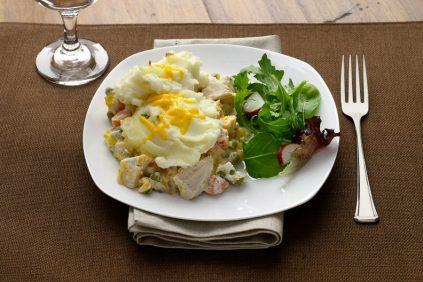 photo of prepared Creamy Chicken Vegetable Potato Topped Casserole recipe