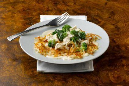 photo of prepared Easy Chicken Alfredo Skillet recipe