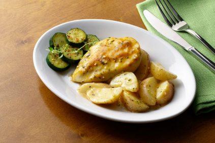 photo of prepared Garlic Herb Chicken and Potato Skillet recipe