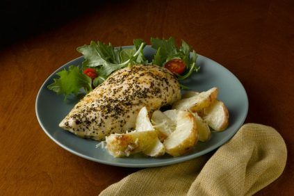 photo of prepared Grilled Chicken with Cheesy Ranch Potato Packets recipe