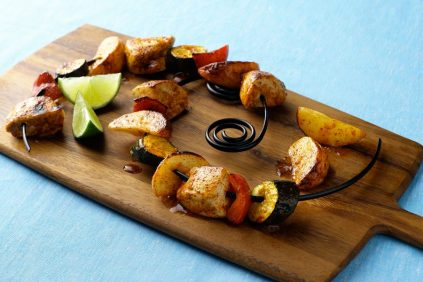 photo of prepared Grilled Fiesta Chicken and Potatoes recipe