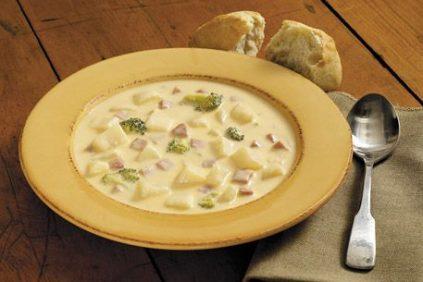 photo of prepared Ham and Broccoli Potato Soup recipe