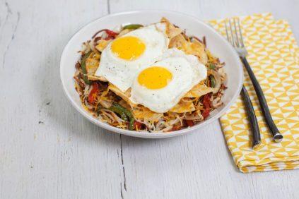 photo of prepared Huevos Rancheros Hash Brown Casserole recipe