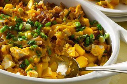 photo of prepared Loaded Potato Buffalo Chicken Casserole recipe
