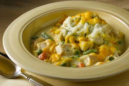 photo of prepared Mashed Potato Topped Chicken Casserole recipe