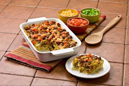 photo of prepared Mexican Potato Sausage Casserole recipe