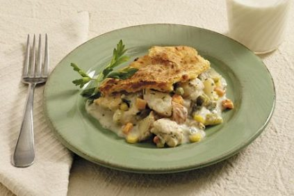 photo of prepared One-Dish Chicken Pot Pie recipe