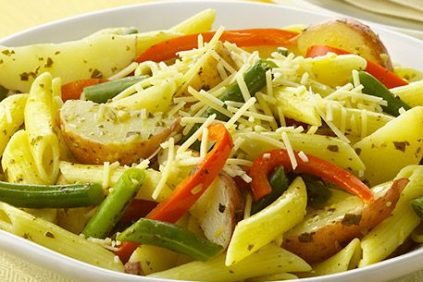 photo of prepared Pesto Penne Pasta with Green Beans and Potatoes recipe