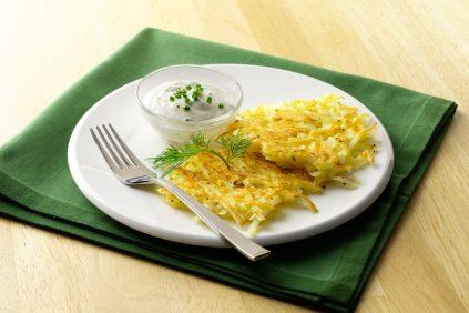 photo of prepared Potato Pancakes with Dill Sauce recipe