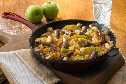 photo of prepared Roasted Apple, Potato and Sausage Skillet recipe