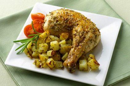 photo of prepared Roasted Chicken with Pesto Potato Casserole recipe