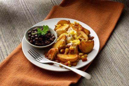 photo of prepared Santa Fe Chicken and Potato Skillet Dinner recipe