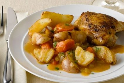 photo of prepared Skillet Chicken & Vegetables recipe