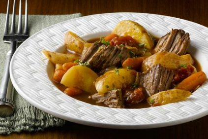 photo of prepared Slow Cooker Swiss Steak recipe