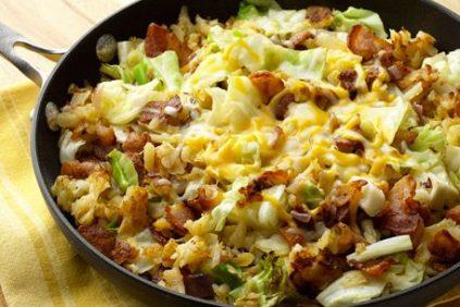 photo of prepared Southwest Potato Cabbage Skillet Dinner recipe
