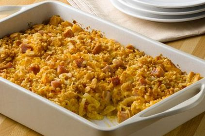 photo of prepared Southwestern Ham and Cheese Party Potatoes recipe