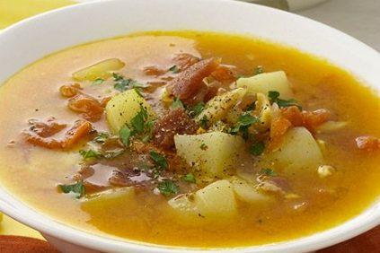 photo of prepared Spicy Manhattan Clam Chowder recipe