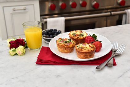 photo of prepared Spinach and Gruyere Cheese Quiche Hash Brown Cups recipe