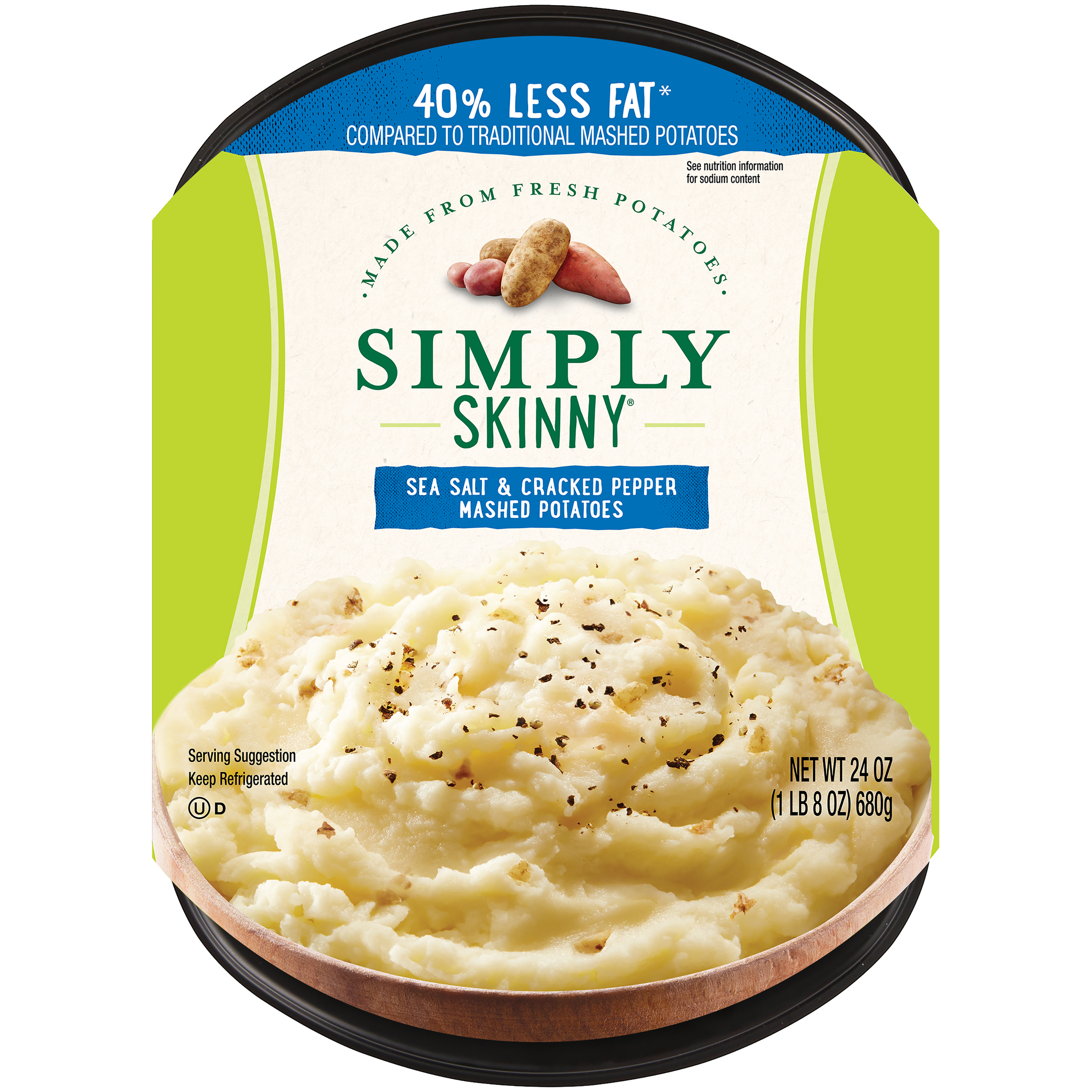 photo of Simply Skinny Sea Salt & Cracked Pepper Mashed Potatoes product