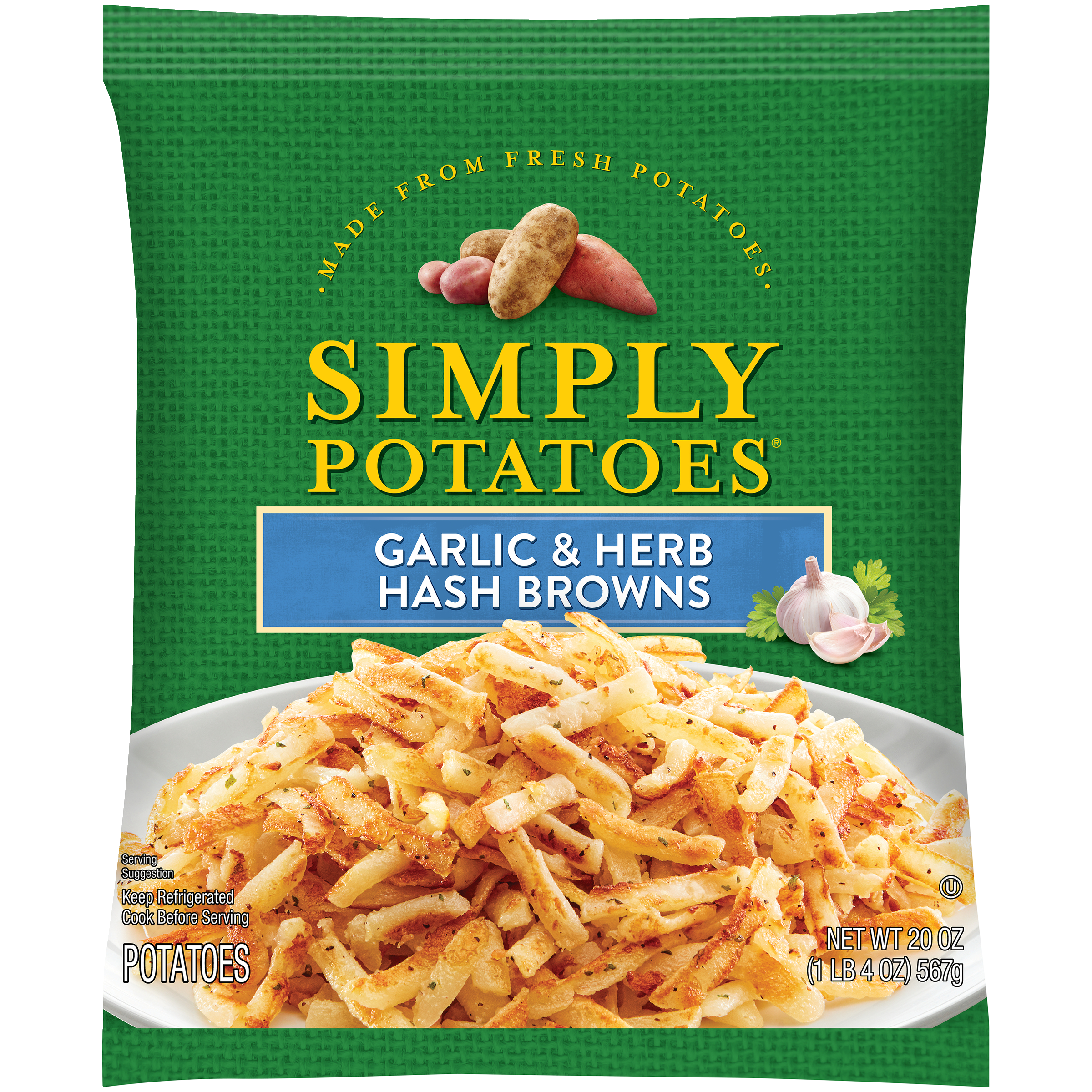 photo of Simply Potatoes Garlic and Herb Hash Browns product